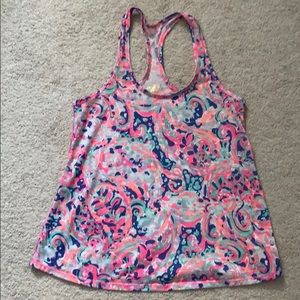 GUC Lilly Pulitzer luxletic tank in La Playa XS